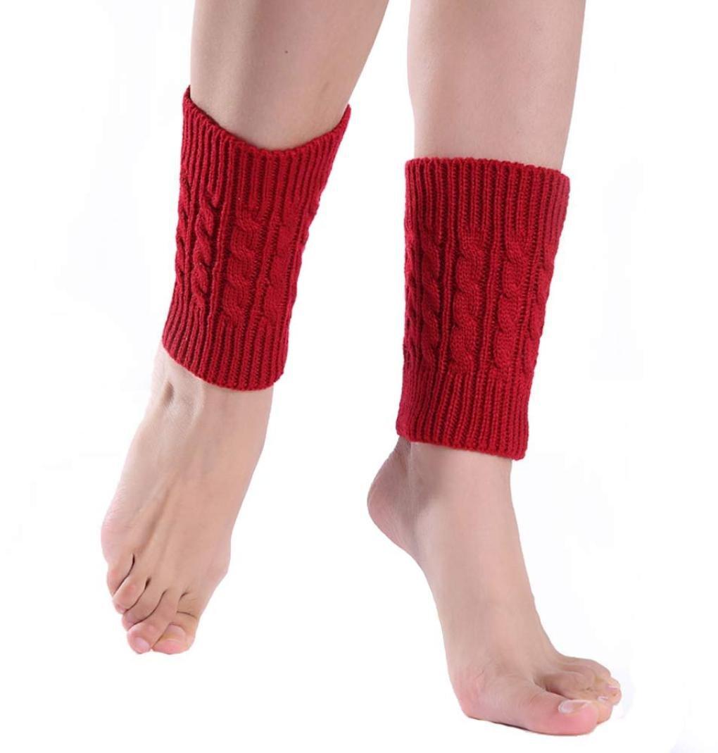 gris Malloom/® Tejer calcetines cortos calentadores de la pierna cubierta de arranque polainas