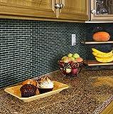 Beaustile Black Brick Mosaic 3D Wall Stickers Home Decor Fire Retardant Backsplash Wallpaper Bathroom Kitchen DIY