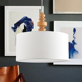 Pendelleuchte Klassisch Reis Weiß Stoff Lampenschirm 3 Flammig Gute  Qualität Höhenverstellbar Hängeleuchte Modern Design
