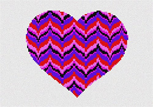 Heart Needlepoint Canvas (Heart Bargello Needlepoint Canvas)