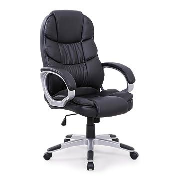 SVITA Chefsessel Bürostuhl Schreibtischstuhl Drehstuhl (Schwarz ...
