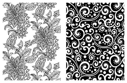 It is a picture of Punchy Posh Coloring Book Soothing Designs