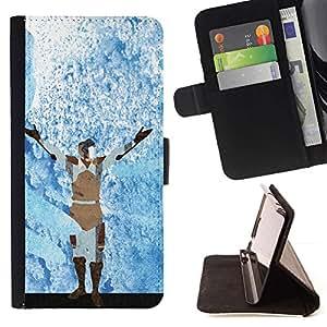 Momo Phone Case / Flip Funda de Cuero Case Cover - Azul Escarcha Guerrero;;;;;;;; - Samsung Galaxy S6 Edge Plus / S6 Edge+ G928