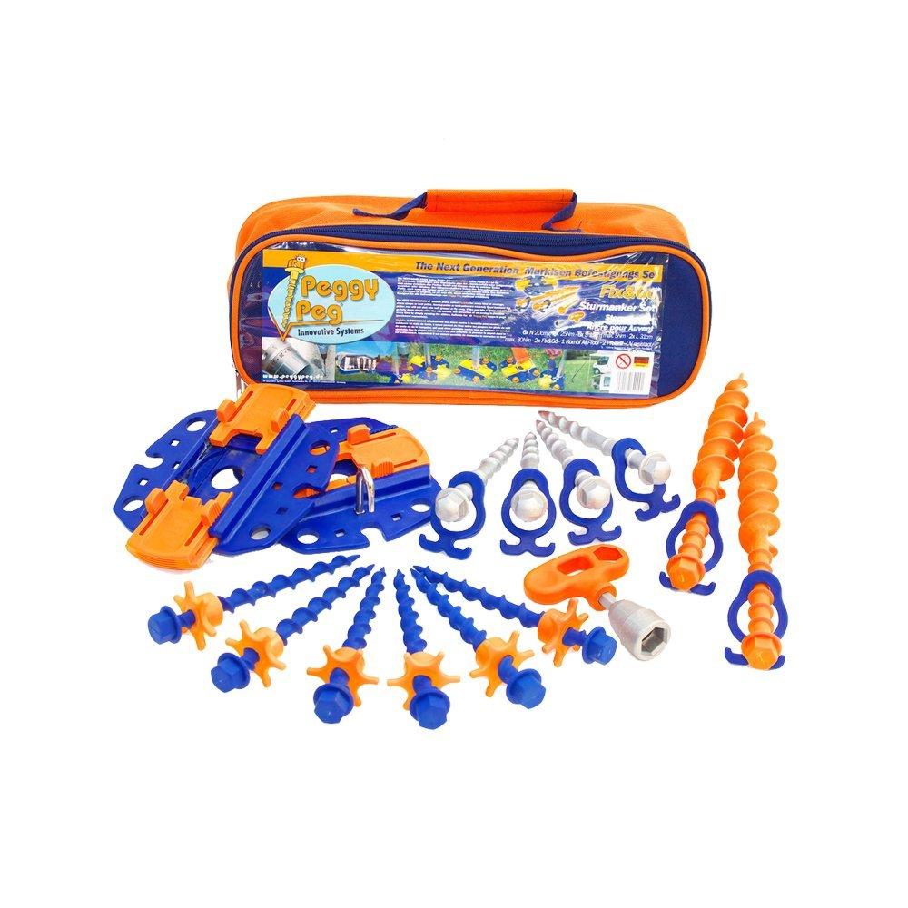 Peggy Peg PP99 Zubehö r mit Stop Fix und Go Markisen, Orange, Set of 16 Peggy Peg Innovative Systems GmbH