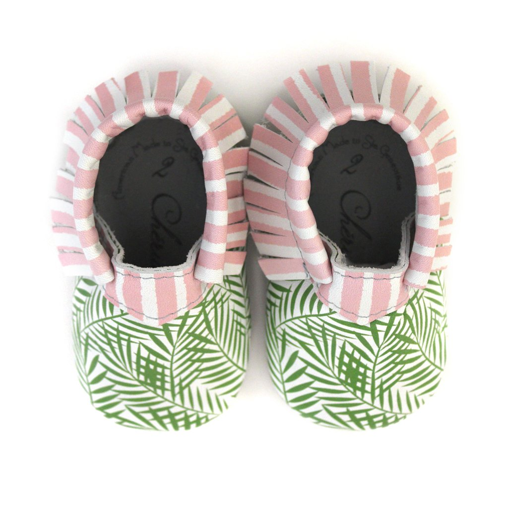 Isle Be Loving You /• 100/% American Leather Moccasins for Babies /& Toddlers /• Made in US