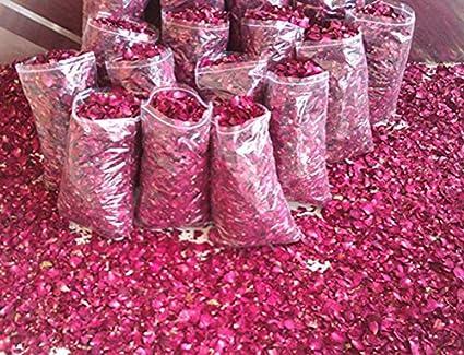 Dasuke - 1 bolsa de pétalos de rosa secos, flores naturales ...