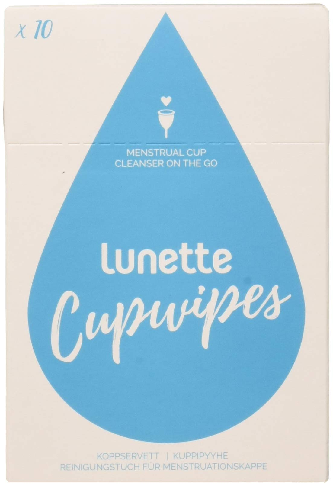 Lunette Cup Wipes (Portable - Compostable - Disinfecting) - 3 Pack