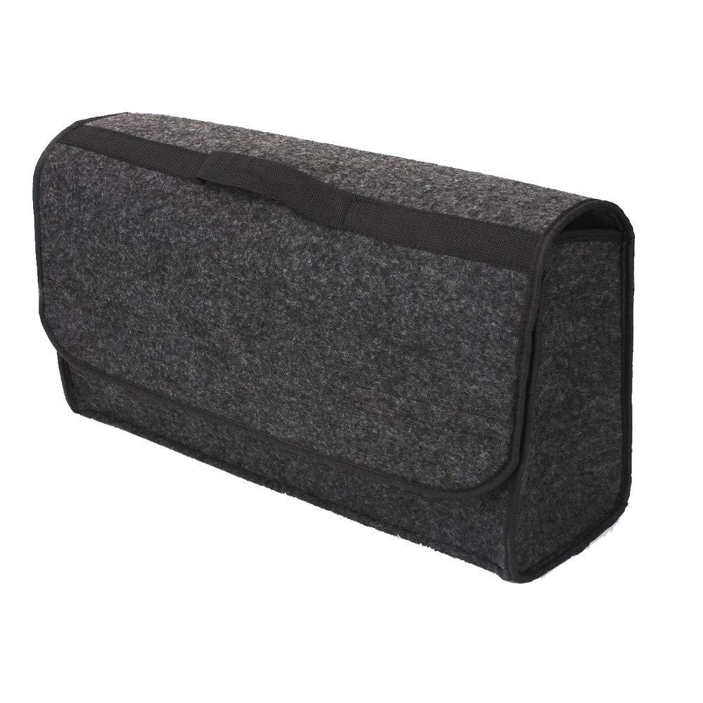 Gris Trunk Cargo Organizer Pliable Caddy De Stockage Sac De Collapse Sac de Rangement Coffre Voiture Sacoche pour Coffre Voiture Universel avec velcros//scratch 19.7x5.9x9.0 pouces