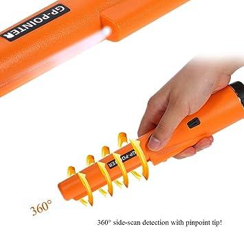 guoyy detector de metales puntero de 360 grados Pro Sonda de Holster con sonda de mano LED impermeable: Amazon.es: Bricolaje y herramientas