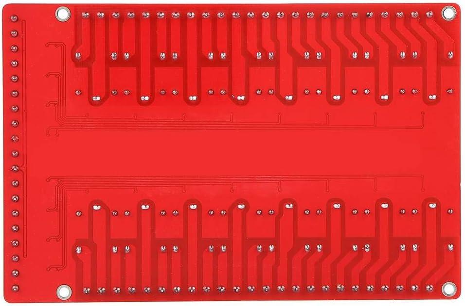 24V DC12V 16-Kanal Relais Modul Isolierte Schnittstellenkarte High//Low-Pegel Trigger DC 5//12