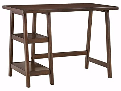 Merveilleux Ashley Furniture Signature Design   Lewis Office Desk   2 Shelves   Casual    Medium Brown