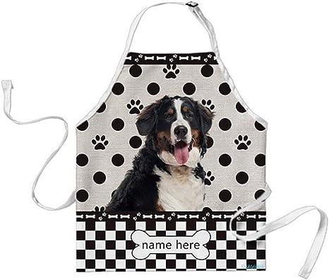 Amazon Com Bageyou Custom Polka Dots Dog Apron Bernese Mountain Dog Buffalo Check Plaid 29x34 Inch Home Kitchen