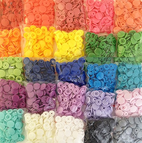 (500 KAMsnaps 25-Color Lead-Tested KAM Snaps Plastic Resin Industrial Snaps Size 20 (1/2
