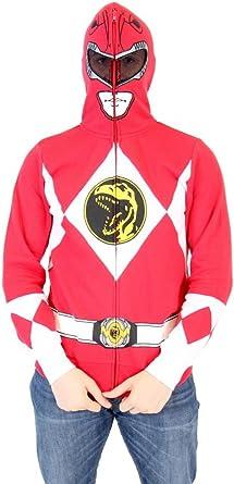 Power Rangers estoy Ranger Rojo Adulto Disfraz de cremallera ...