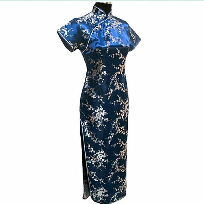 Oriental Clothing - Vestido - kimono - para mujer azul azul marino 42