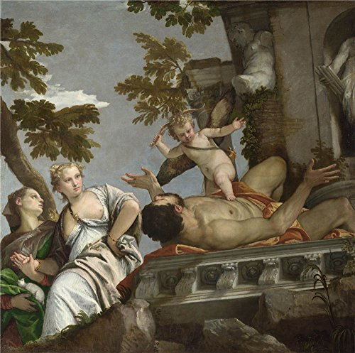 The Polyster Canvas Of Oil Painting 'Paolo Veronese Scorn ' ,size: 10 X 10 Inch / 25 X 26 Cm ,this Cheap But High Quality Art Decorative Art Decorative Prints On Canvas Is Fit For Foyer Artwork And Home Gallery Art And Gifts