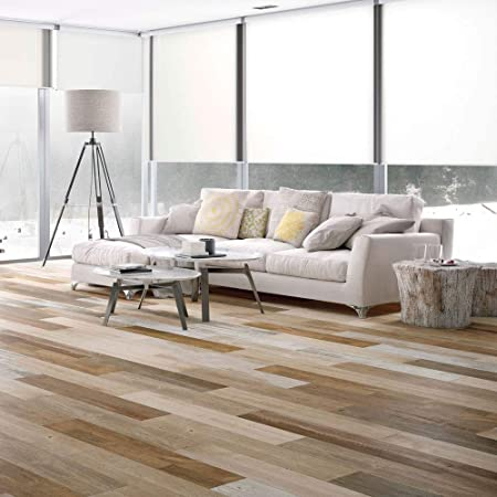 Wood Effect Porcelain Floor Tiles >> Wayland Mochal Stain Mix Beige Wood Effect Porcelain Floor