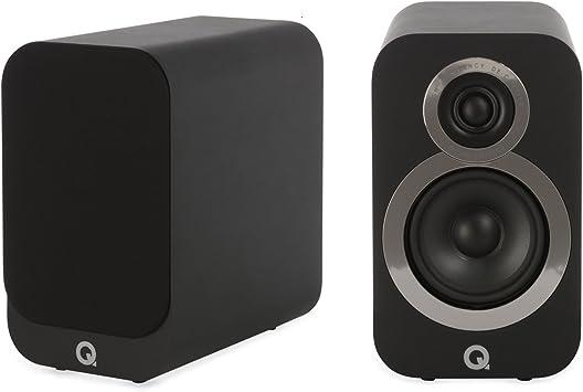 Q Acoustics Q 3010i - Altavoces de estantería (par), Color Negro