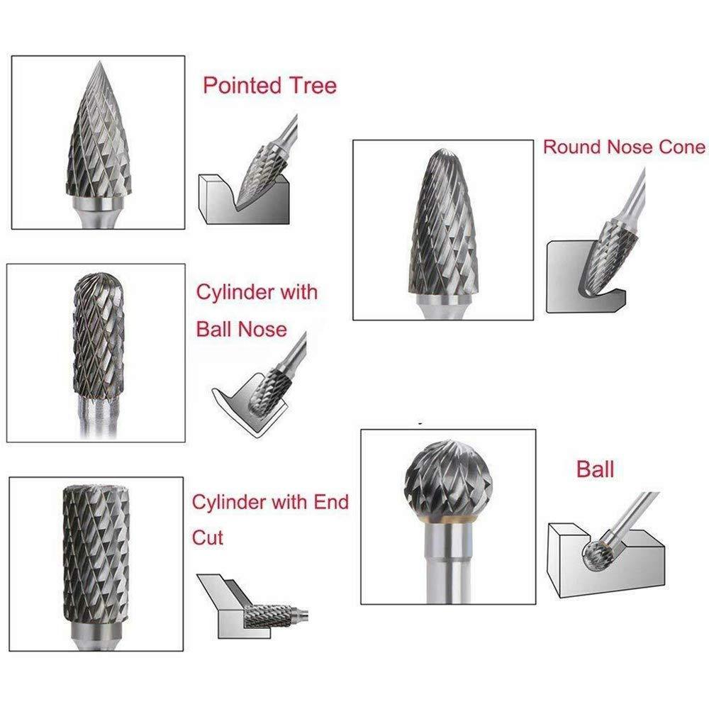 DEWALT DWA4971 Steel 1//2 Hp Conical Rotary Rasp File