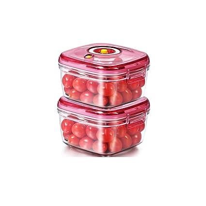 YQQ Caja De Almacenamiento De Vacío Plástico De 2 Piezas Caja De Fruta Infantil para Niños