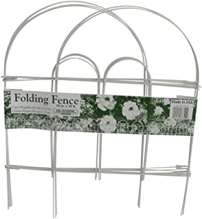 """product image for Glamos Wire Products 777009 18"""" x 10' White Folding Wire Fence"""