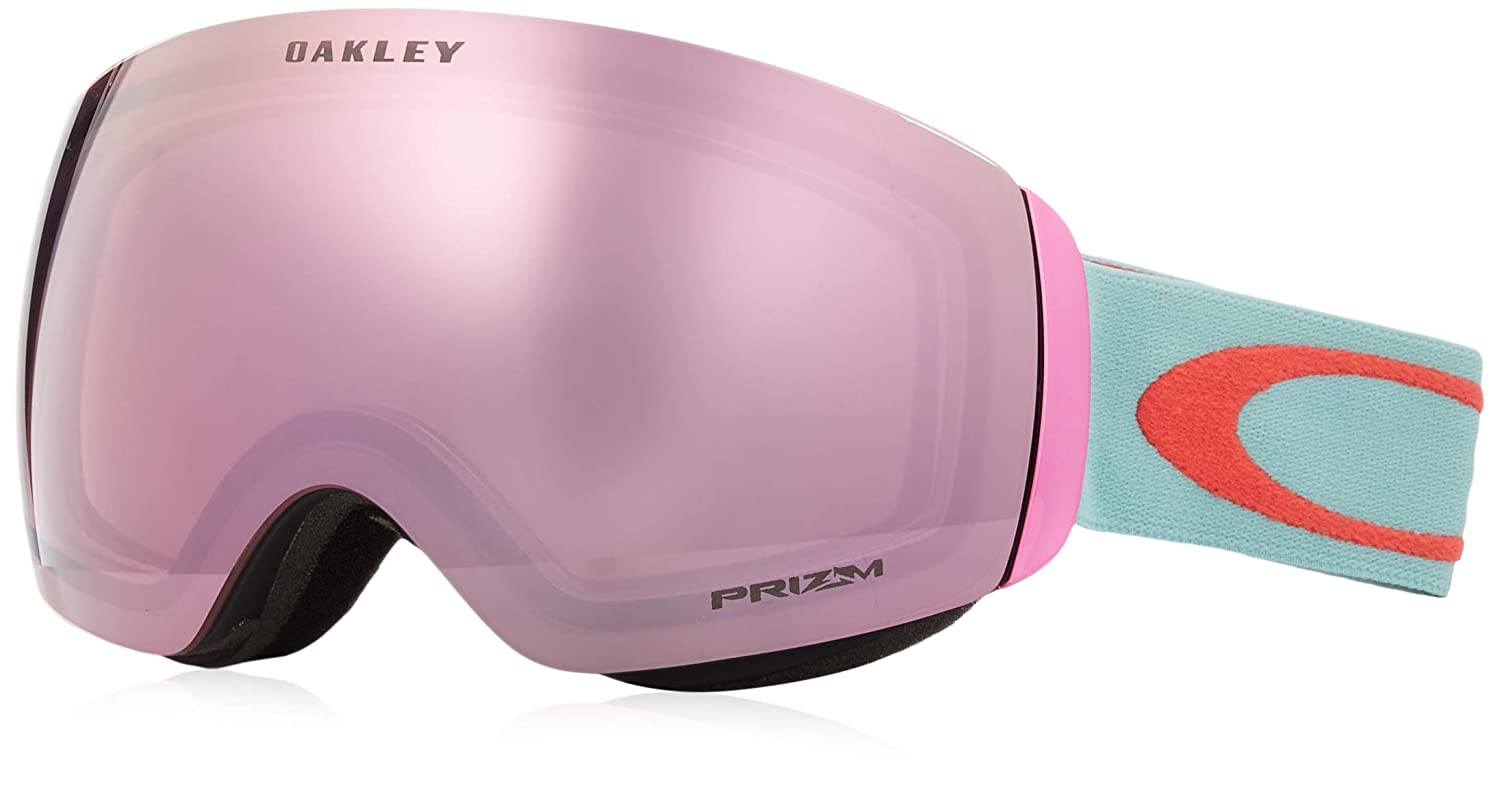 f201746203 Amazon.com   Oakley Flight Deck XM Adult Snowmobile Goggles - Arctic Surf  Coral Prizm Hi Pink Iridium Medium   Sports   Outdoors