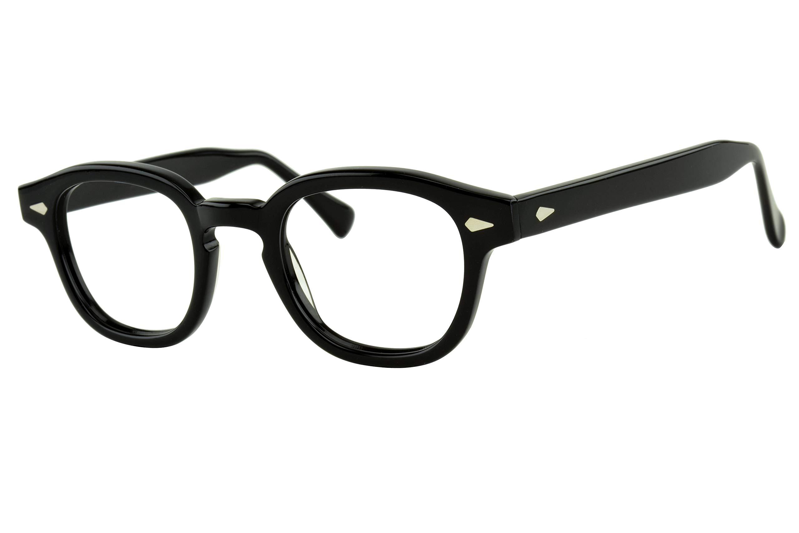 Verona Love Hand Made Acetate Computer Reading Eyeglasses Blue Light Blocking Premium Gamer Anti Eyestrain Eyewear for Men and Women (Classic Black Size VLV46)