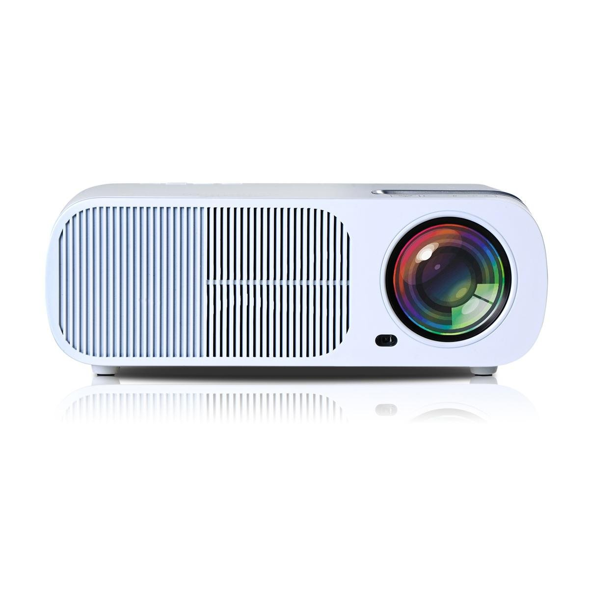 UHAPPY Mini LED Projector 20,000 hours lamp life 1080P 2600 lumen