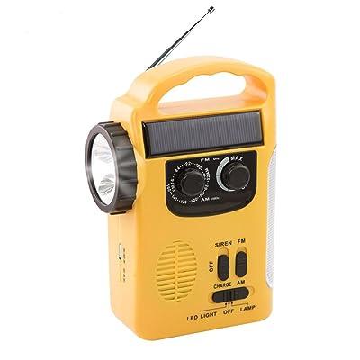 Solaire météo radio, Chengstore d'urgence à manivelle auto-alimenté AM/FM Radio LED Lanterne avec lampe de poche d'alimentation portable chargeur pour les smartphones Rd339