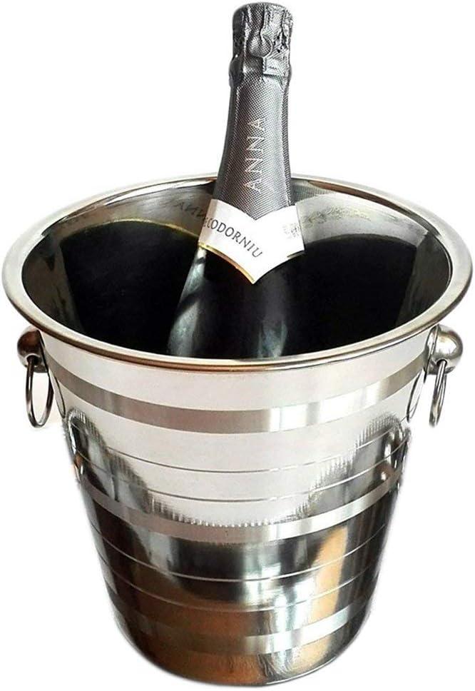 Space Home - Seau à champagne avec Poignées - Acier Inoxydable - Finition de Luxe