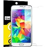 Panzerglas Samsung Galaxy S5, NEWC® Tempered Glass 9H Härte, Frei von Kratzern Fingabdrücken und Öl, HD Displayschutzfolie, 0.33mm Ultra-klar, panzerglas schutzfolie für Samsung Galaxy S5