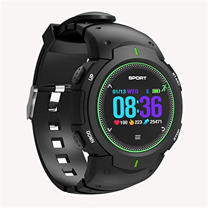 PINCHU Relojes Inteligentes F13 Smartwatch Pulsera Exterior IP68 Multi-Deporte Reloj Hombres Mujeres,Green