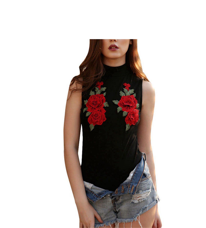 Embroidery Flower Bodysuit Women Jumpsuit Rompers Leotard JumpsuitFeminino