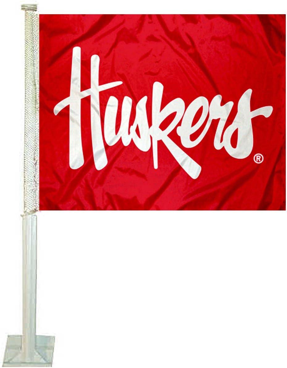 Rico Industries NCAA Nebraska Cornhuskers Car Flag
