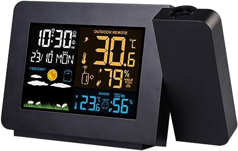 HLKJ Reloj Despertador De Proyección Digital, Reloj del Proyector ...