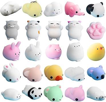 Mochi Squishy Squeeze Toy, 25 Piezas Mochi Squishy Toy Mini Kawaii Cat Squishy Mochi Squishy Mochi Squeeze Juguetes para Gatos Soft Squishy Alivio de Estrés Juguetes de Animales: Amazon.es: Electrónica