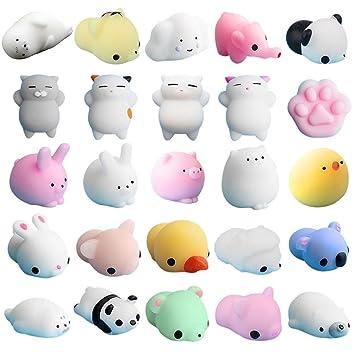 Mochi Squishy Squeeze Toy, 25 Piezas Mochi Squishy Toy Mini ...