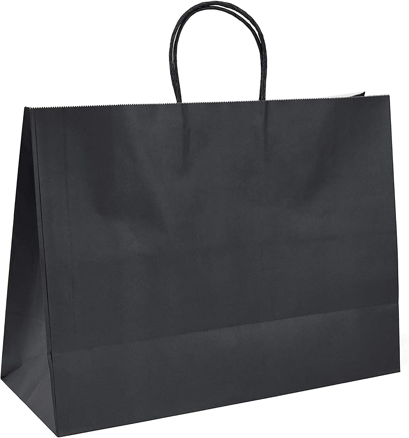 """Black XQINCAI 25Pcs 12.6/"""" L x 4.4/"""" W x 9.9/"""" H Kraft Paper Gift Bags Kraft Paper Bags with Handles,for Shopping//Party Favor//Gift Bags//Retail//Packaging//Parties and Other Occasions"""