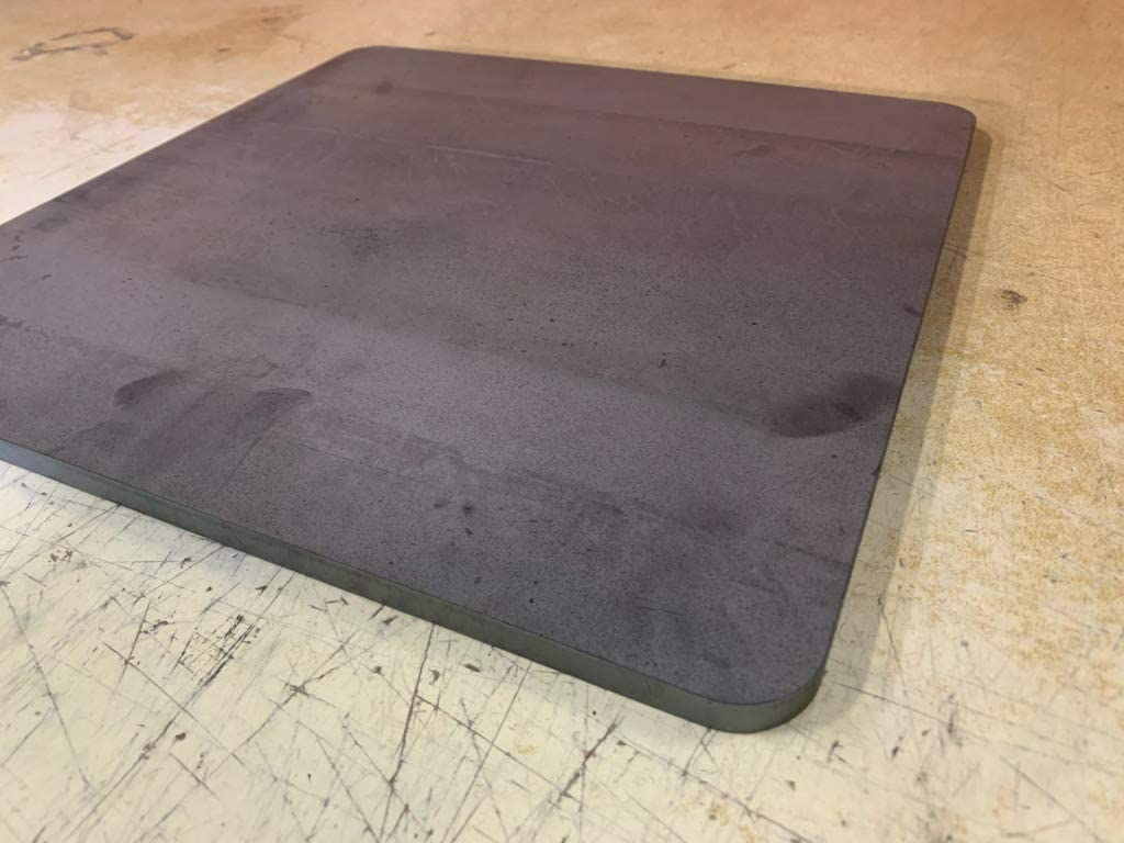 Use for Pizza Steel After descaling and Cleaning 0.25 Thick A36 Steel 1//4 x 16 x 16 Steel Plate