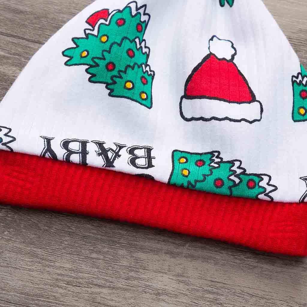 SUMTTER/_Bambini Costume Natale Pagliaccetto Neonata Rossa+cap+Pantaloni Set 0-2 Anni