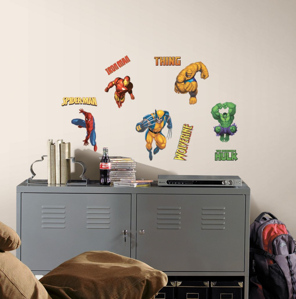 Roommates rmk1154scs marvel heroes peel stick wall decals wall roommates rmk1154scs marvel heroes peel stick wall decals wall decor stickers amazon amipublicfo Choice Image