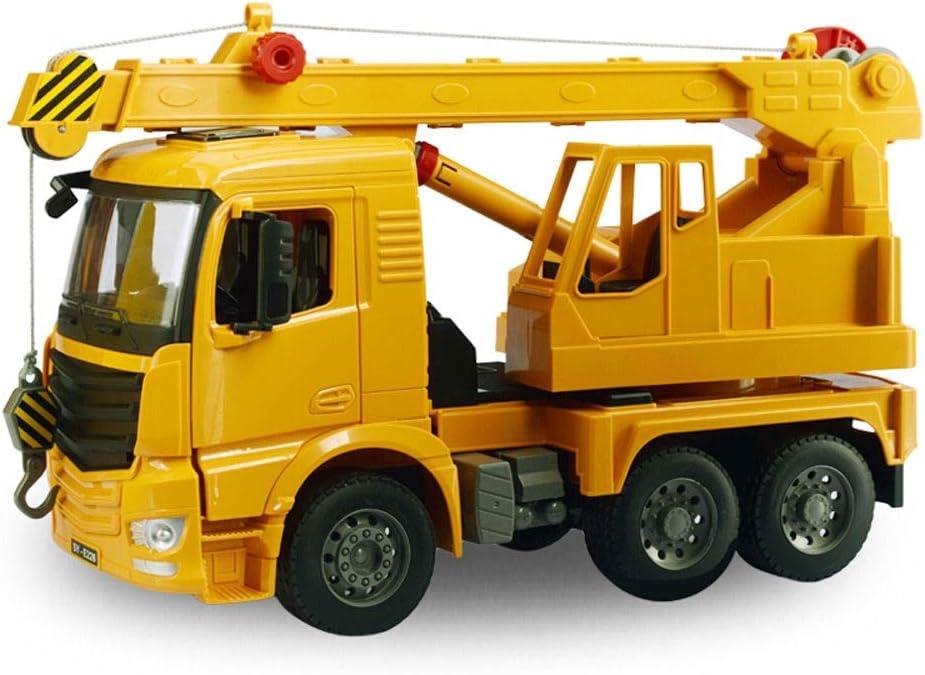 Ycco Modelo de automóvil Juguete Infantil Automóvil Manual Ingeniería de Deslizamiento Transporte de vehículos Camión volquete Modelo de ingeniería Manual de ingeniería con grúa de Pluma de camión de