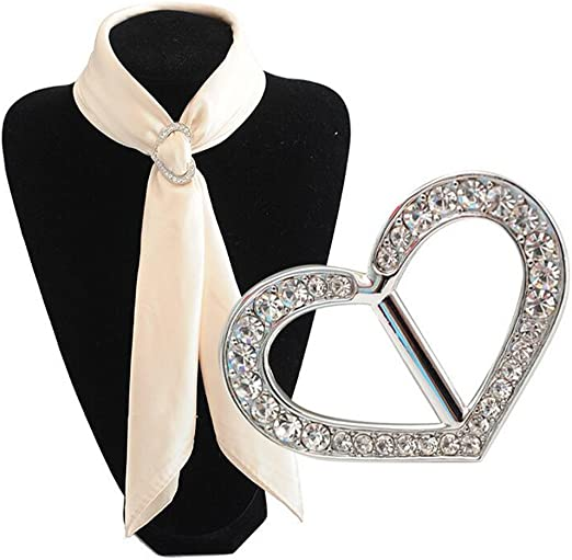 FENICAL Scarf Ring Pearl T Shirt Tie Ring Rhinestone Scarf Clips Buckle for Bridal Bridesmaid Dresses