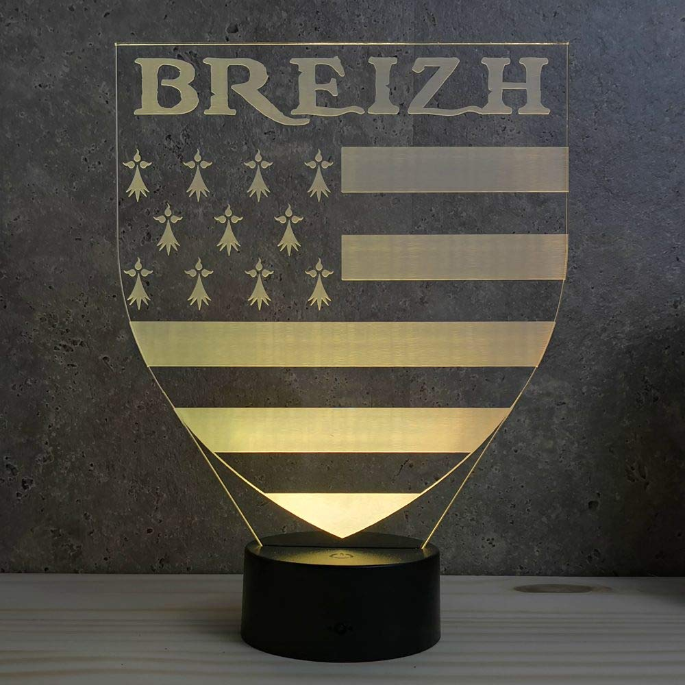 Lampe Breizh - Fabriquée en France - Lampe de table - Lampe veilleuse - Lampe d'ambiance