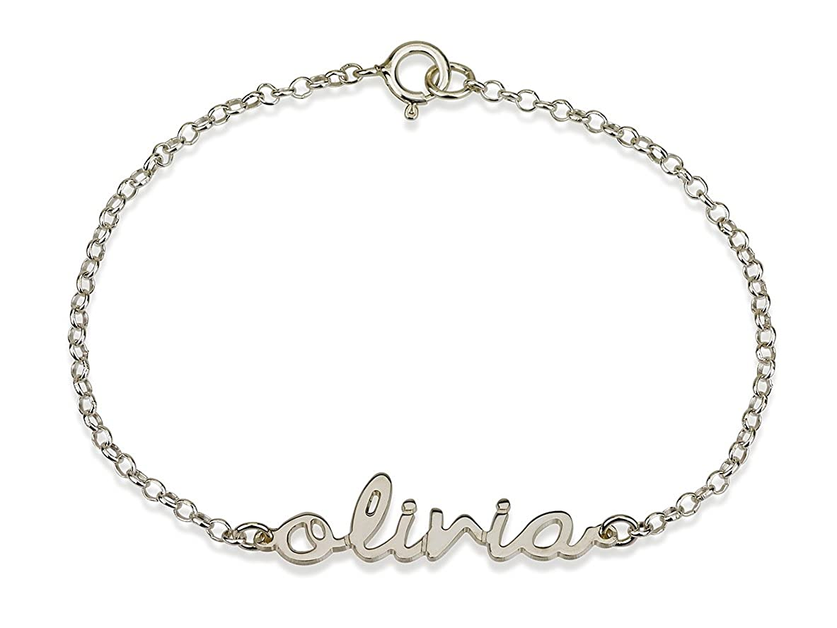 Personalized Necklaces Name Bracelet 925 Sterling Silver Initial Bracelet Name Pendant