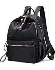 FLORICA Backpack Purse for Women Oxford Waterproof Cloth Nylon Rucksack School Bookbag Shoulder Bags Handbag for Girls Daypack Black