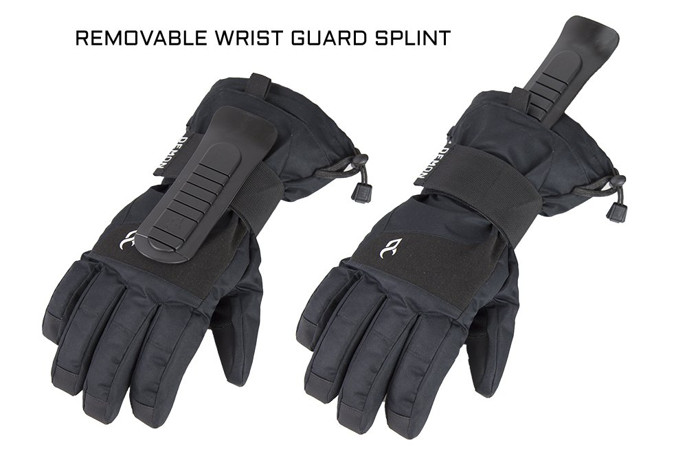 Demon Cinch WRISTGUARD Waterproof Snowboard Glove (Medium)