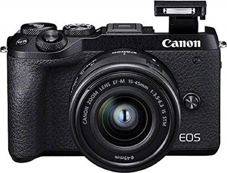 Canon EOS M6 Mark II - Cámara Mirrorless de 32.5 MP, Negro ...