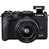 Canon EOS M6 Mark II - Cámara Mirrorless de 32.5 MP, Negro - Kit Cuerpo con Objetivo EF-M 15-45mm f/3.5-5.6 IS STM y…