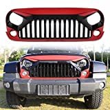 Automotive : Danti painted Gladiator Vader Front Grill Grid Grille Cover For Jeep Wrangler Jk Jku Rubicon Sahara 2007 2008 2009 2010 2011 2012 2013 2014 2015 2016 2017 (Red)